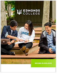 Edmonds College brand guidelines booklet cover