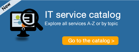 Explore IT services available to you, browse the catalog now